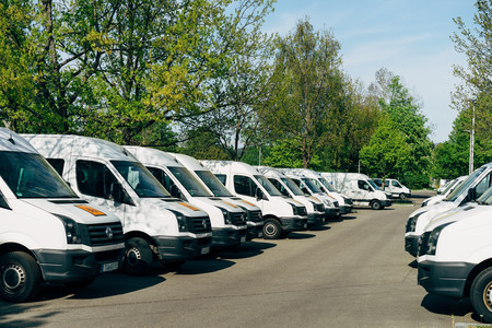 Photo of a fleet of vans