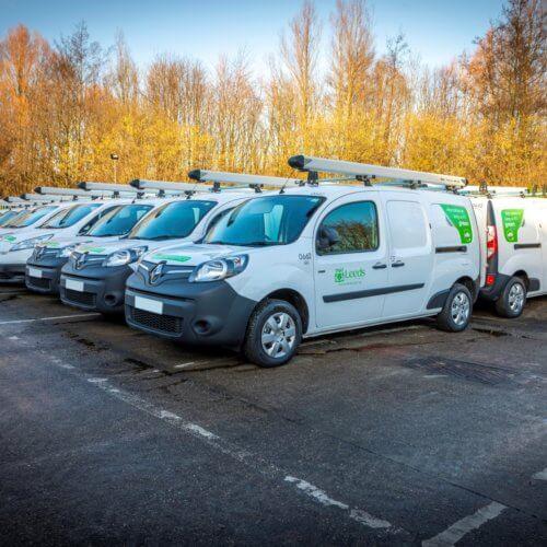 Photo of fleet of electric vans