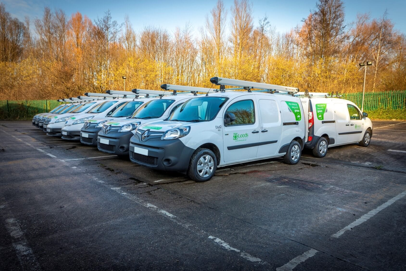 Photo of fleet of electric vans